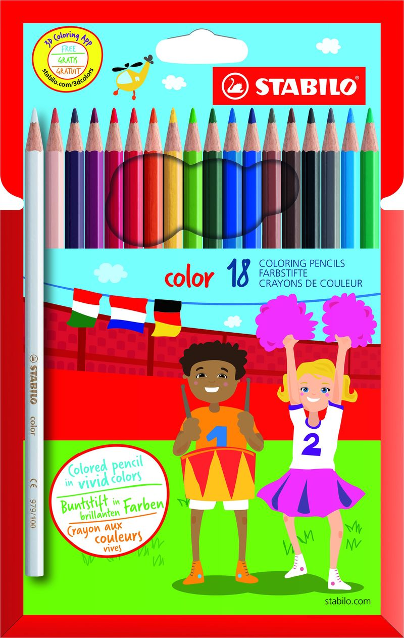 EST / 18 STABILO COLOR COLORED PENCILS R: 19187711
