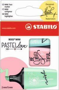 ESTUCHE 3 STABILO BOSS MINI PASTEL MENTA / RUBOR / TURQUESA R: 07 / 03-57