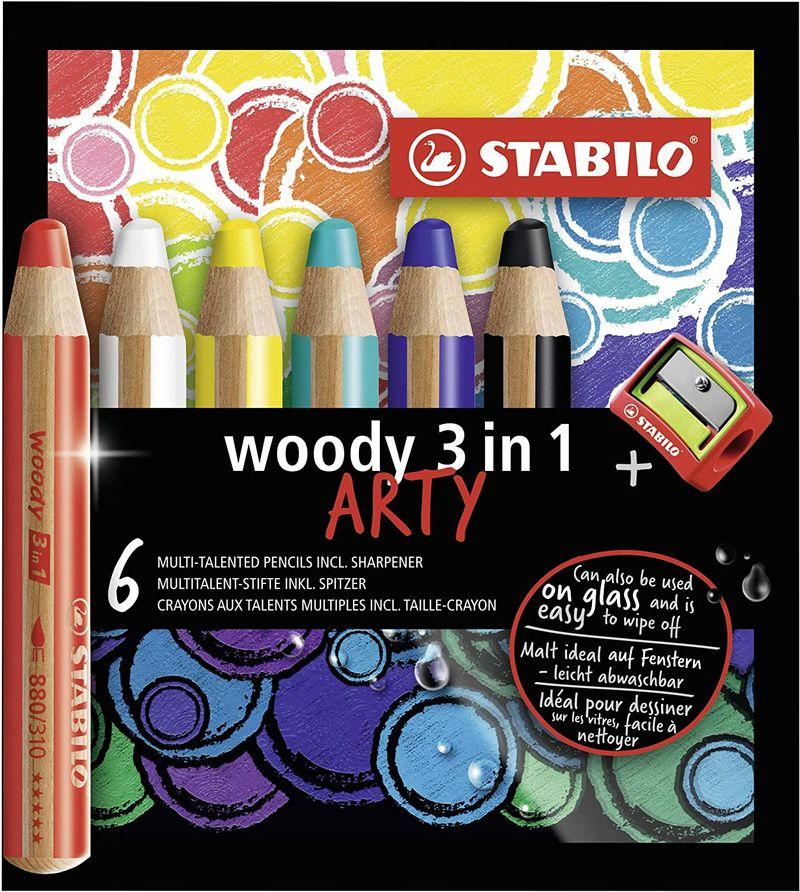 C / 6 STABILO WOODY ESTUCHE ARTY R: 8806-1-20