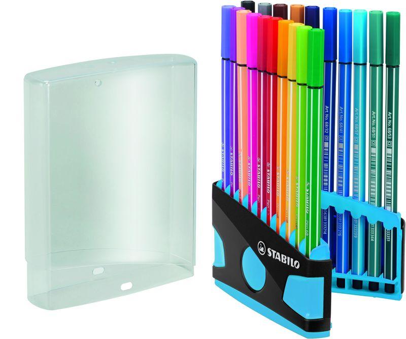 C / 20 Stabilo Pen Color Parade Ant / Light Bl R: 6820-04-04 -