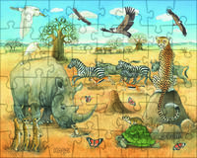 PUZZLES ANIMALES SALVAJES DE AFRICA