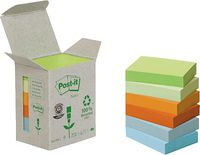 C / 6 BLOCS POST-IT TORRE NOTAS COL. PASTEL 38x51mm RECICLADO R: 292248