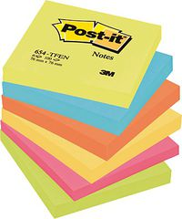 PACK / 6 POST-IT 76x76 COLORES ENERGIA R: 654TFEN