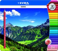 C / 24 LAPICES COLORES LYRA TRIANGULARES C / METAL R: 2521253