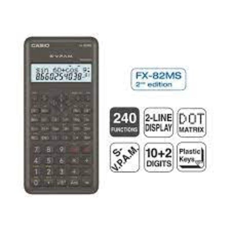 CALCULADORA CIENTIFICA FX-82MS-2 240 FUNCIONES PANTALLA LCD 2 LINEAS 10+2 DIGITOS