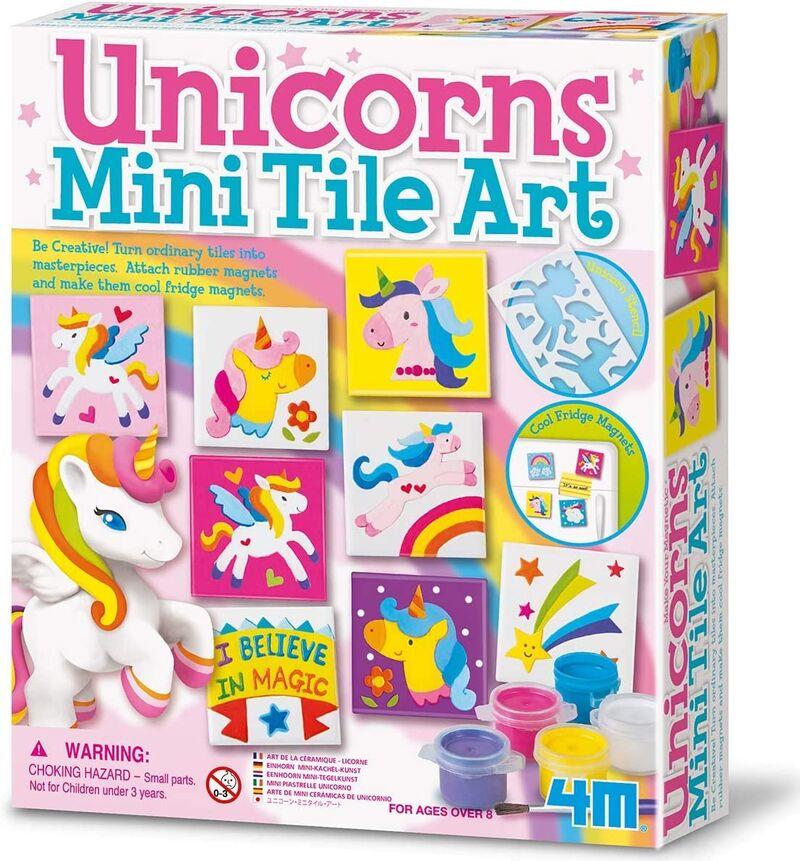 Set Arte De Azulejos Unicornio -