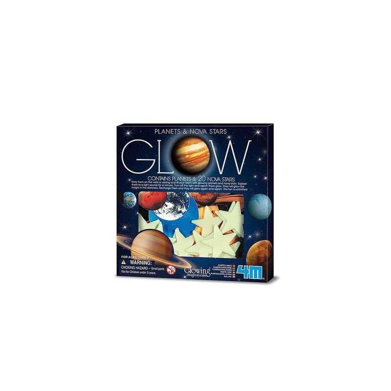 Super Nova Brillante Y Planetas De Papel -