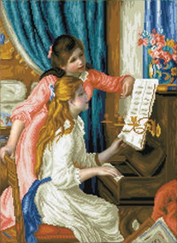 DD GIRL'S AT THE PIANO (RENOIR)