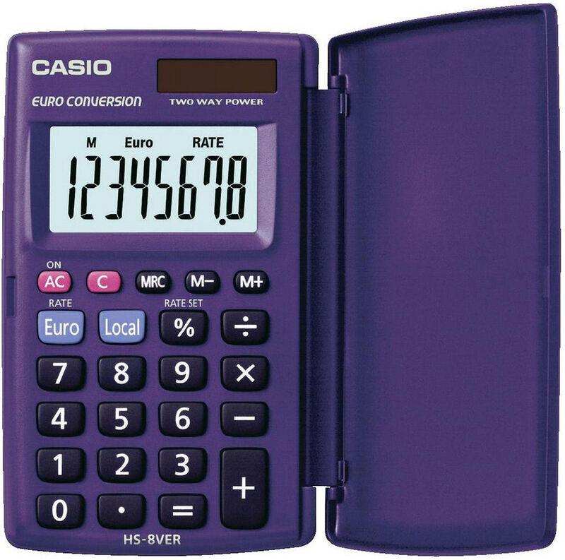 Calculadora Bolsillo Hs-8ver 8 Digitos Solar -