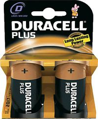 BLIS / 2 PILAS DURACELL PLUS POWER LR20 D MN1300 R: 0810114.0
