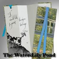 BOOKMARK - WATER LILY POND
