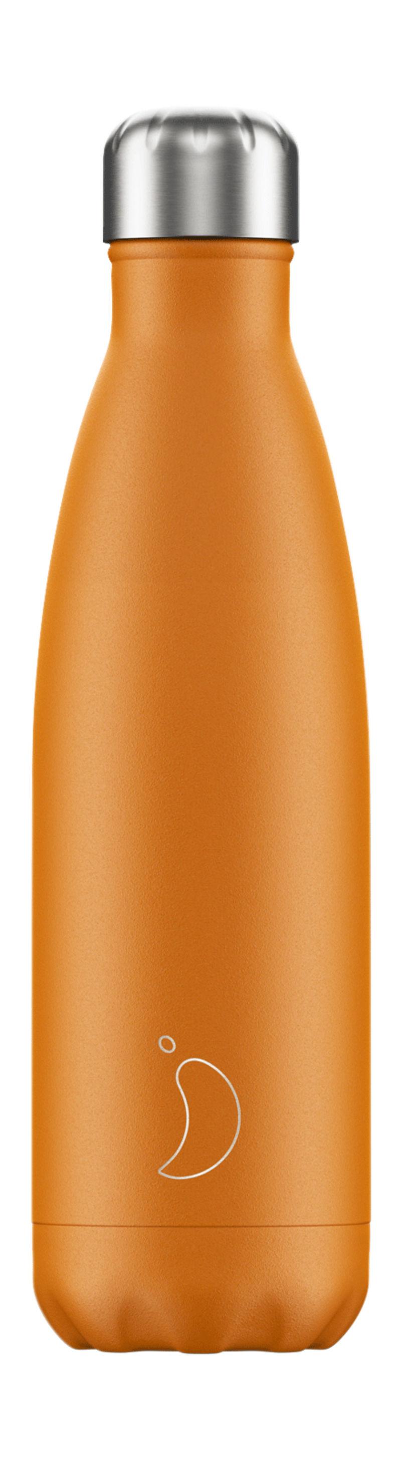 Botella Inox Naranja Mate 500ml -