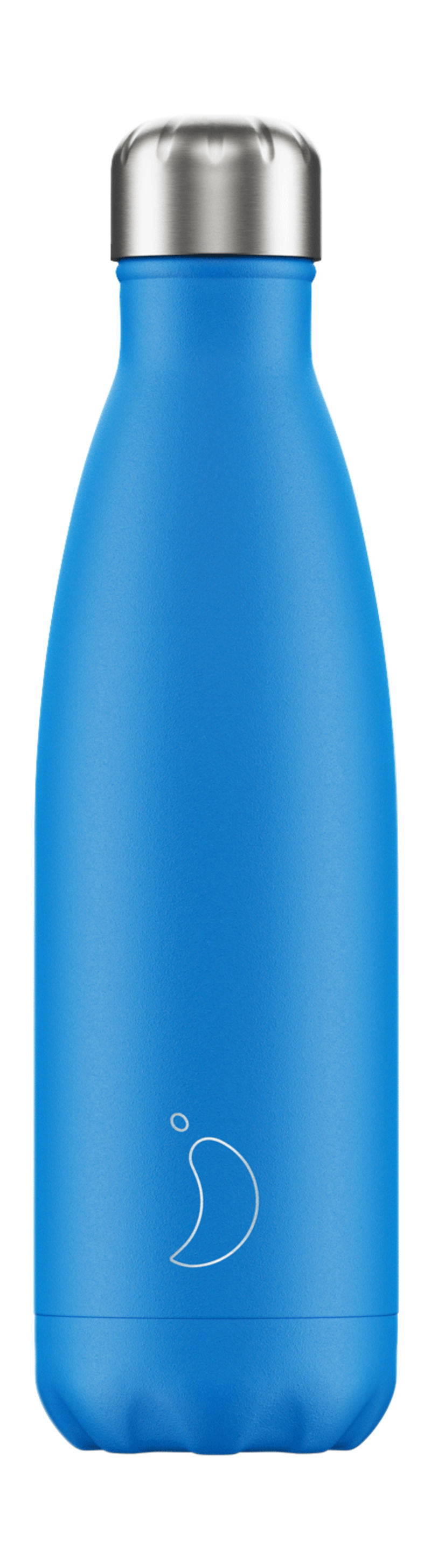 BOTELLA INOX AZUL NEON 500ML