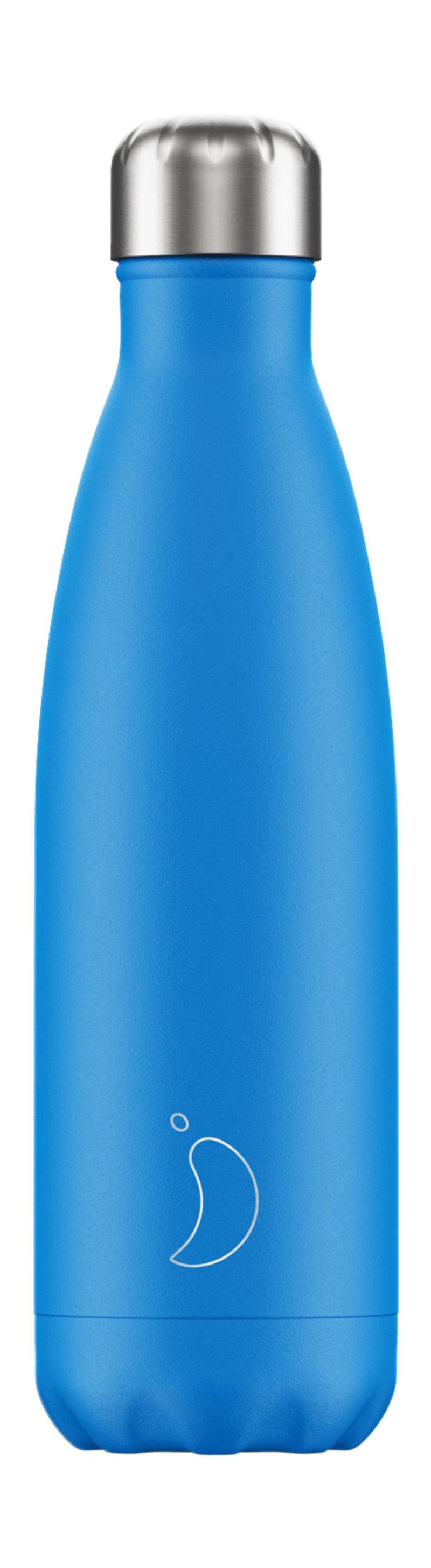 Botella Inox Azul Neon 500ml -