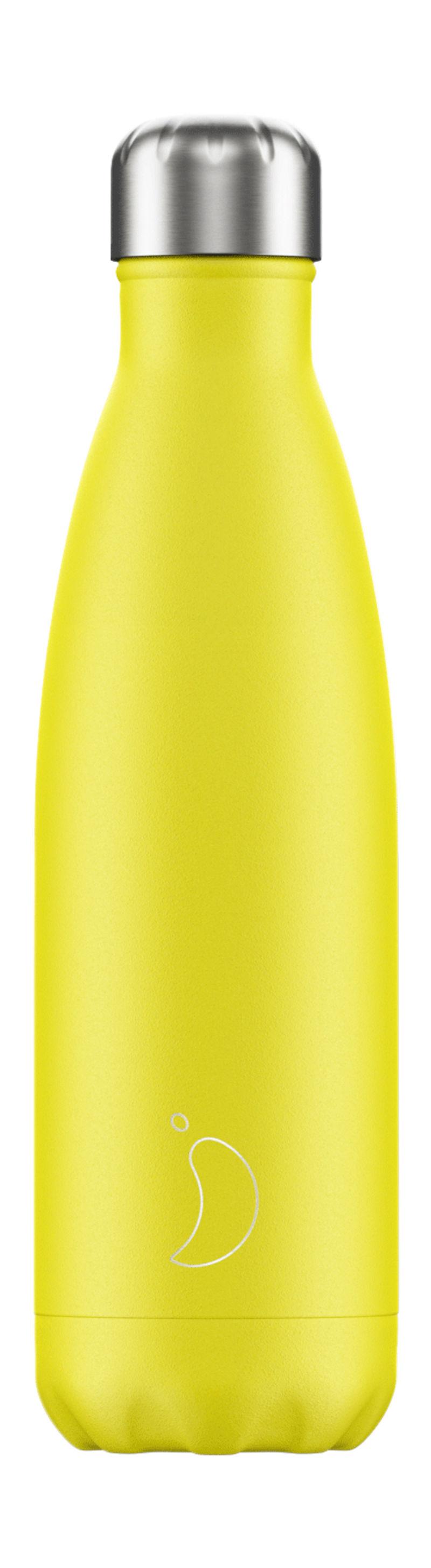 BOTELLA INOX AMARILLO NEON 500ML