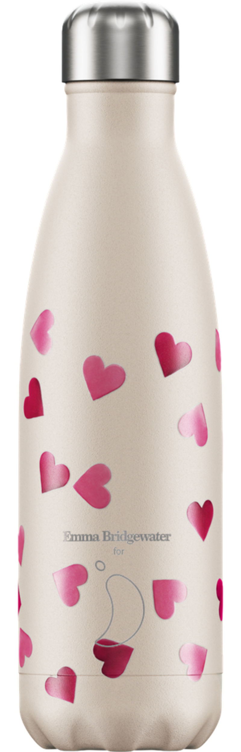 BOTELLA INOX CORAZONES 260ml