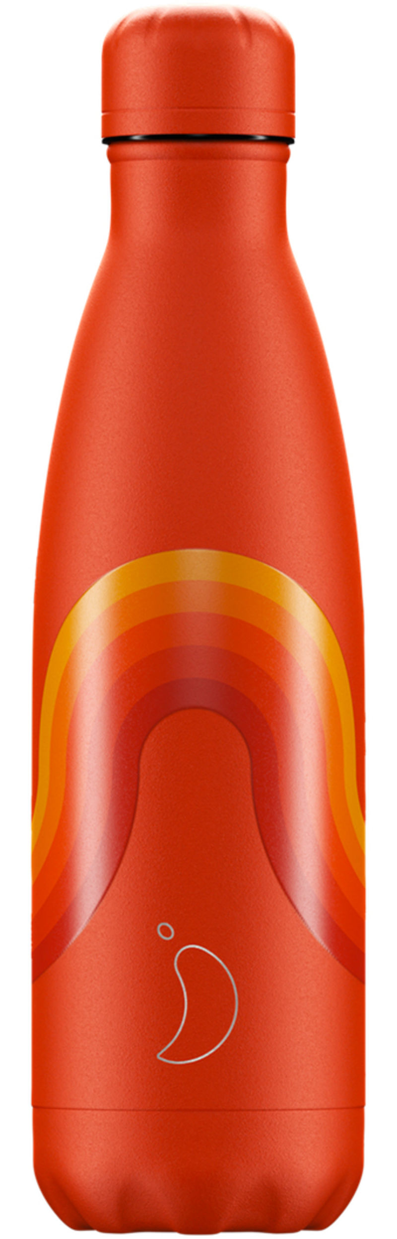 BOTELLA INOX RETRO NARANJA 500ml