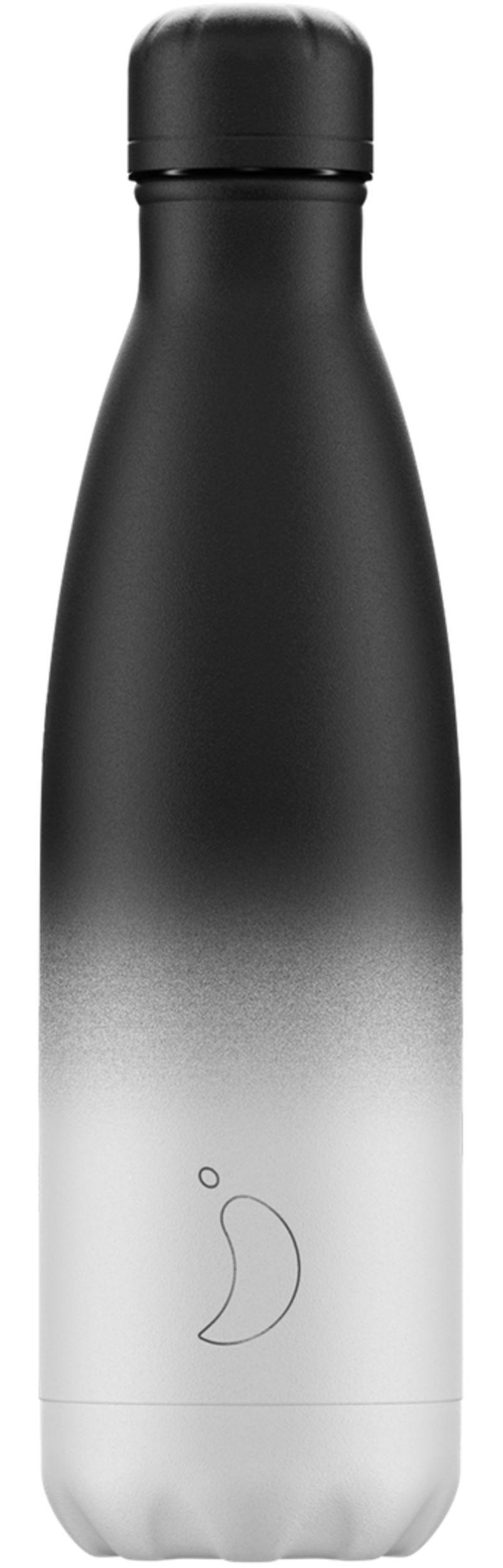 Botella Inox Gradient Blanca&negro 500ml -