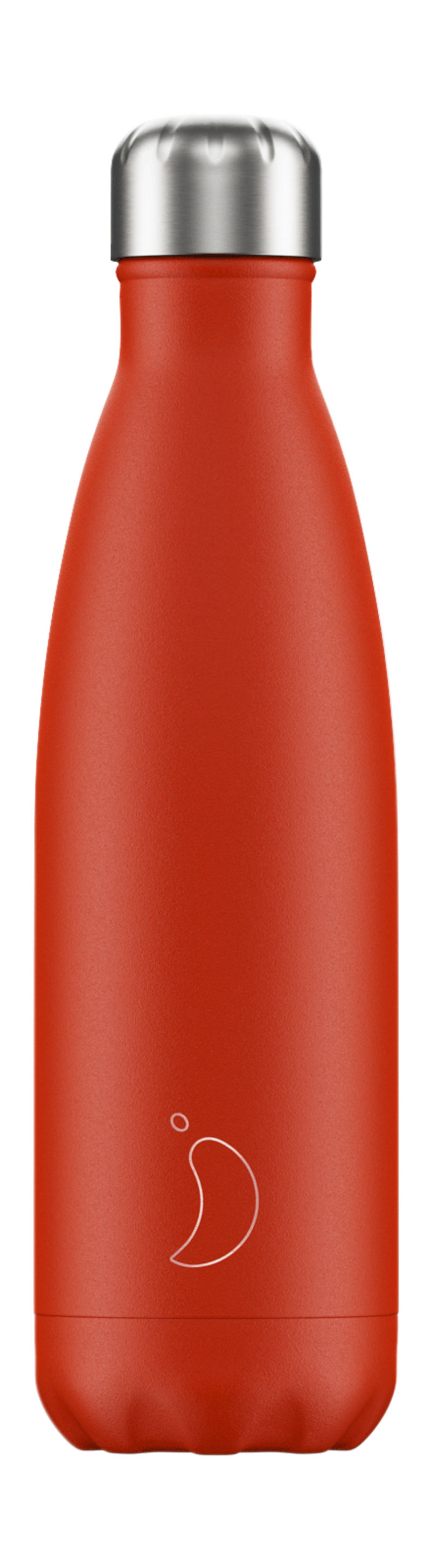 BOTELLA INOX ROJO NEON 500ML