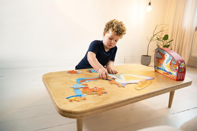 contour puzzle / pelican scratch puzzle -