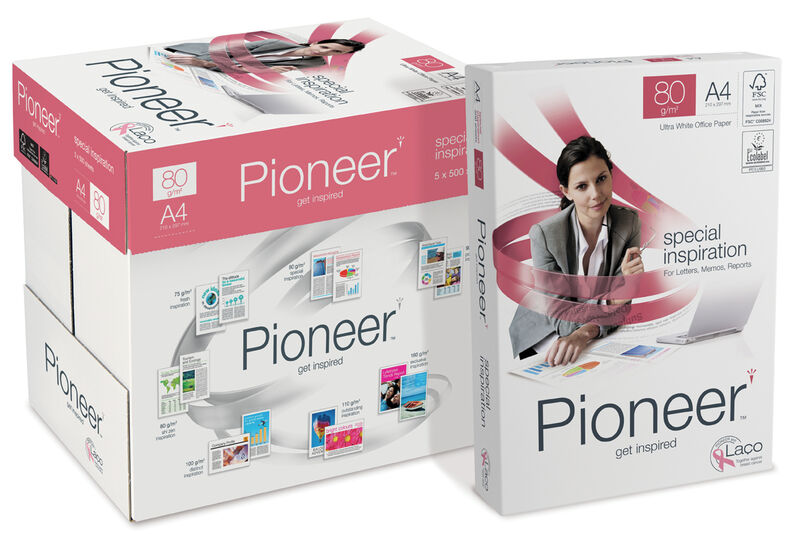 C / 5 Paquete 500h A4 80gr Pioneer -