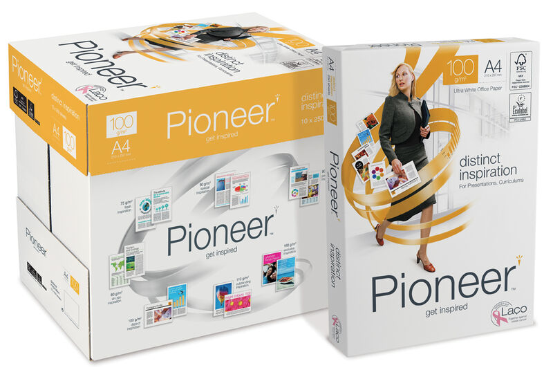 C / 10 Paquete 250h A4 100gr Pioneer -