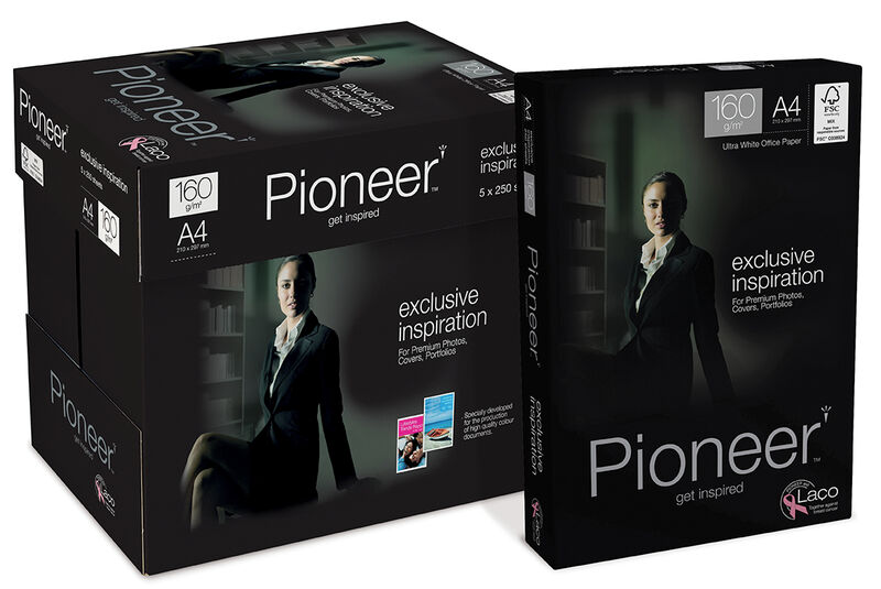 C / 5 PAQUETE 250H A4 160gr PIONEER