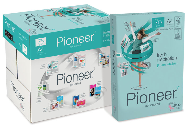 C / 5 PAQUETE 500H A4 75gr PIONEER