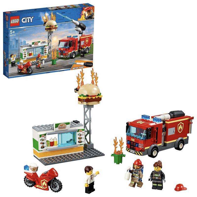 Lego City * Rescate Del Incendio En La Hamburgueseria R: 60214 -