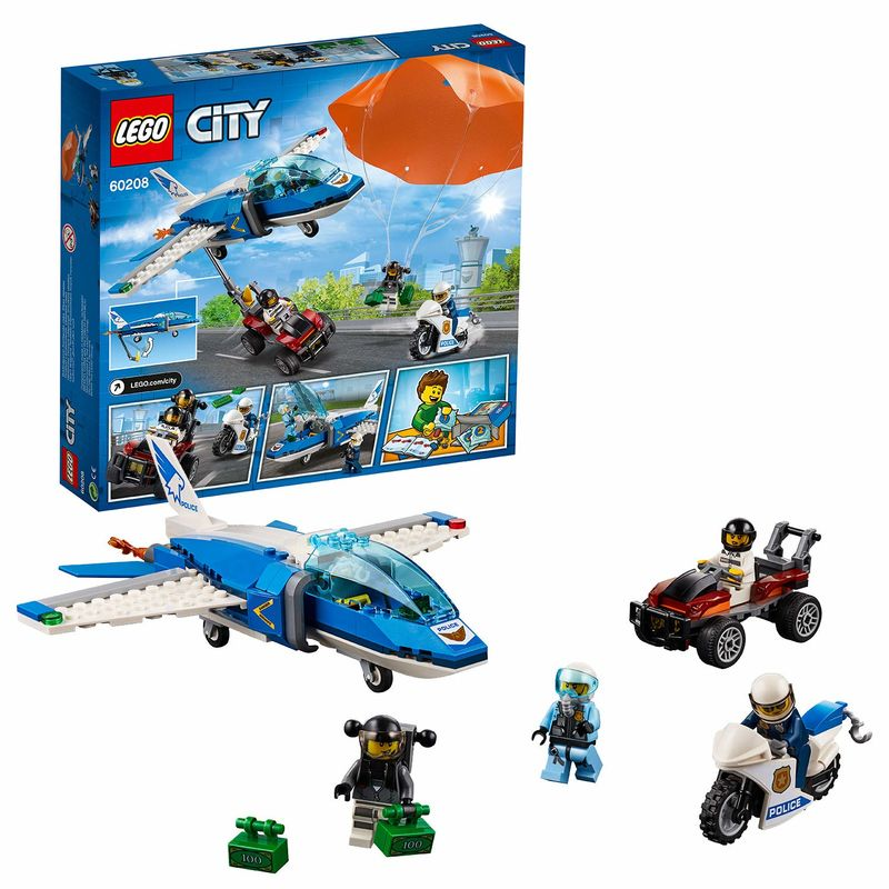 LEGO CITY * POLICIA AEREA : ARRESTO DEL LADRON PARACAIDISTA R: 60208