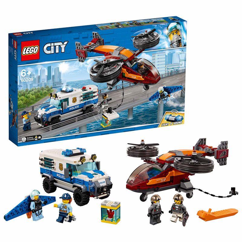 LEGO CITY * POLICIA AEREA : ROBO DEL DIAMANTE R: 60209
