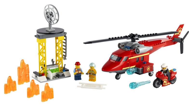 LEGO CITY * HELICOPTERO DE RESCATE DE BOMBEROS