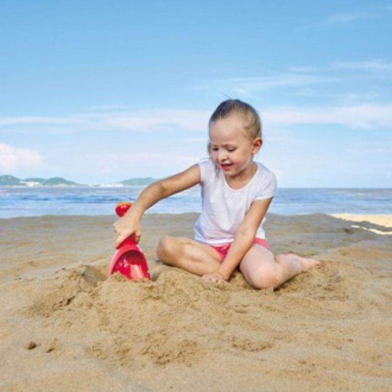 Pala De Lluvia Roja Playa