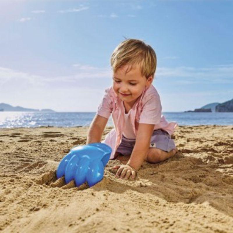Pata Excavadora Gigante Azul Playa
