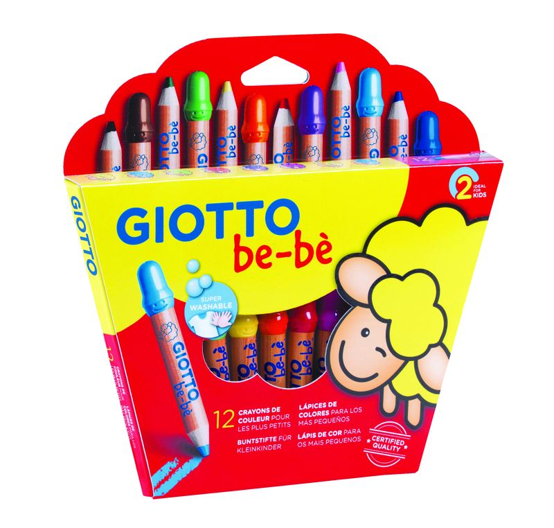 GIOTTO BEBE * C / 12 SUPER LAPICES + SACAPUNTAS