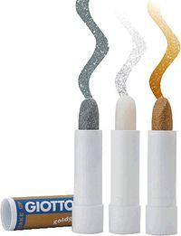 GIOTTO MAKE UP * C / 10 STICK GLITTER PLATA R: 470402