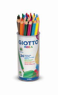 BOTE / 24 LAPICES COLORES GIOTTO MEGA R: 519700