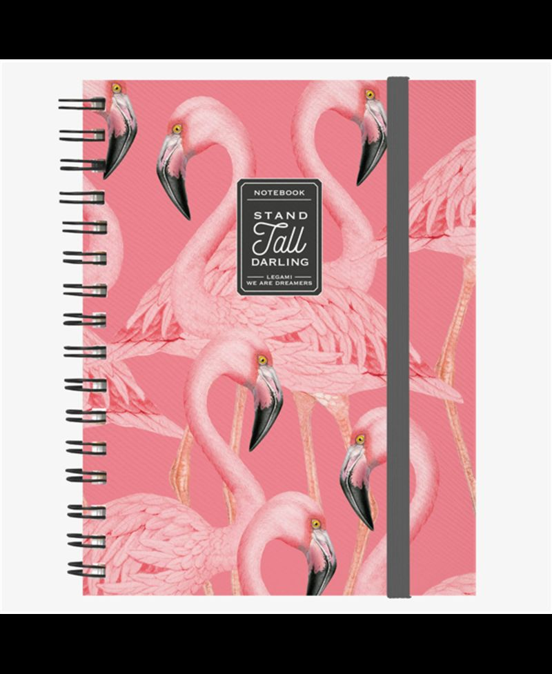 MAXI TRIO NOTEBOOK WITH SPIRAL FLAMINGO