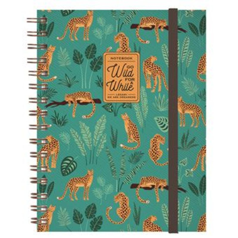 MAXI TRIO NOTEBOOK WITH SPIRAL CHEETAH