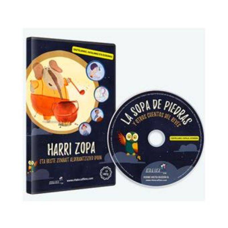 (DVD) HARRI ZOPA ETA BESTE ZENBAIT ALDERANTZIZKO IPUIN (EUS / ESP / CAT) (+3 URTE)