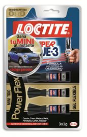 BLISTER LOCTITE SUPER GLUE-3 POWER FLEX MINI TRIO 3x1gr. R: 1882403