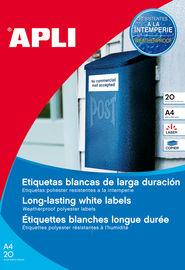 BLIS / 20 ETIQ. BLANCAS POLIESTER (64, 6X33, 8) R: 01226
