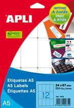 B / ETIQUETAS A5 12, 0x30, 0 R: 01861