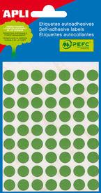 Sobre Etiquetas Adhesivas Verdes 19mm 5 Hojas R: 2066 -