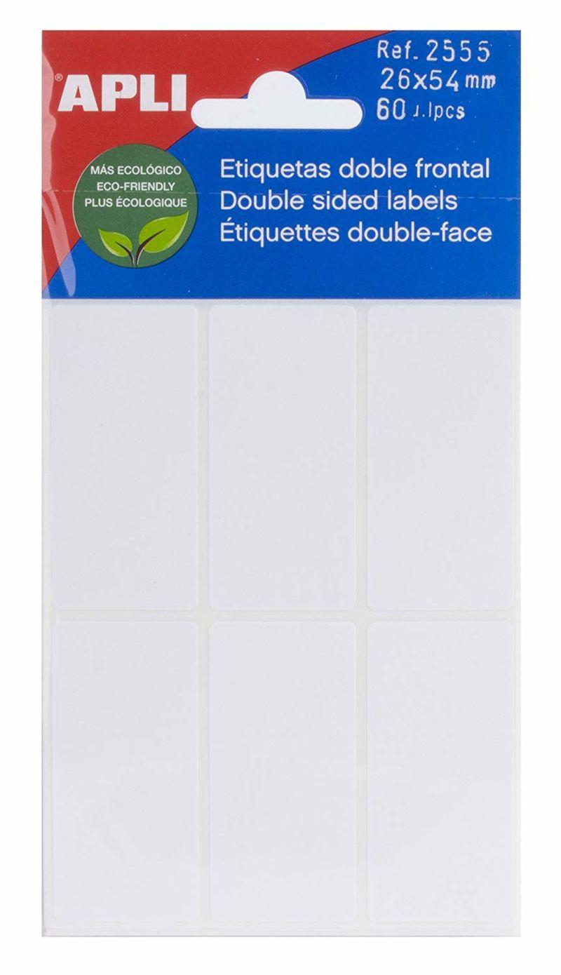 SOBRE ETIQUETAS DOBLE FRONTAL 26x54 50u R: 2555