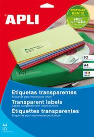 C / 10H. ETIQ. TRANSP. RECTOS 210X297 R: 10053