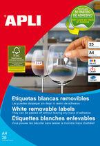 BLIS / 25H ETIQUETAS BLANCAS REMOVIBLES 25, 4x10 R: 10198