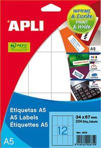 BOLSA ETIQUETAS A5 210X148 INKJET / LASER / COPY 15H R: 11182
