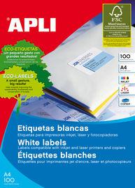 CAJA ETIQUETAS 105X33, 5 A4 100H BLANCAS R: 12330