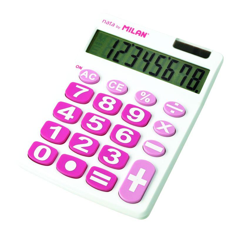 calculadora milan blanca teclas grandes 8 digitos r: 151708 -